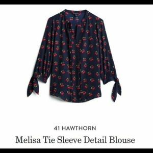 41 Hawthorn Stitch Fix Cherry Melissa tie blouse